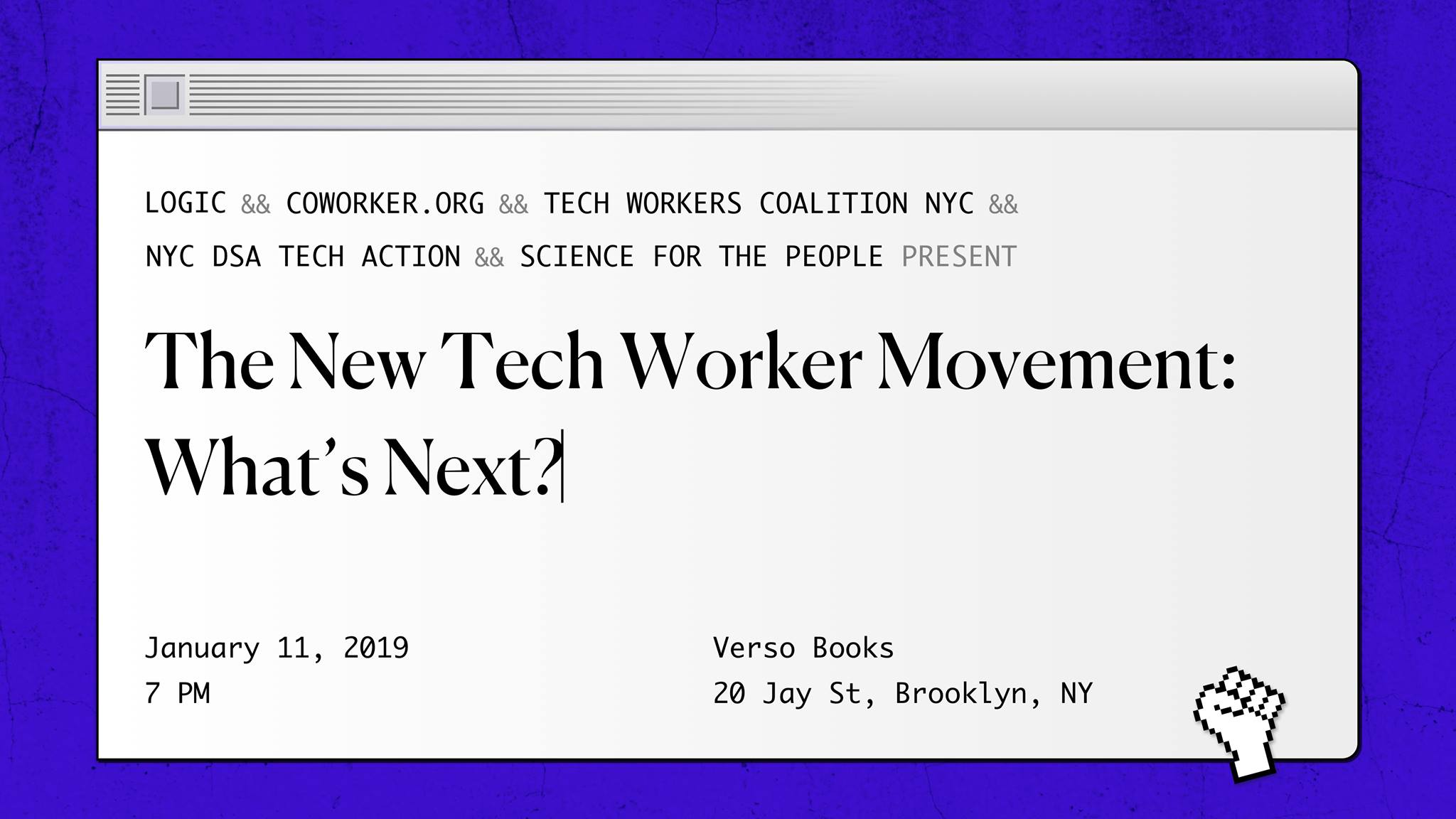 The New Tech Worker Movement